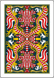 Playing card back side 62x90 mm vector illustration