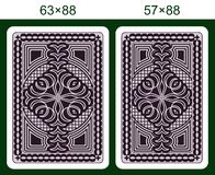 Playing card back side Royalty Free Stock Images