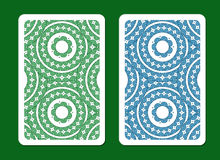 Playing card back side designs. Stock Images