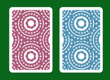 Playing card back side designs. Royalty Free Stock Images