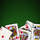 Playing card background Royalty Free Stock Photos