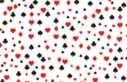 Playing card background pattern Royalty Free Stock Images