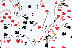 Playing card background Stock Photography