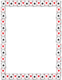 Playing card border. Illustrated playing card border with blank white text or photo space Stock Images