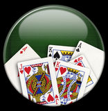 Playing Card Button Royalty Free Stock Photo