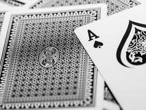 Playing card. Closeup shot of playing card Stock Image