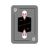 Playing card death. Skeleton in business suit. New concept of pl Stock Image