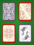 Playing card deck design Royalty Free Stock Photos