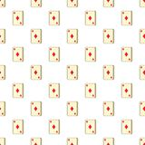 Playing card diamonds pattern, cartoon style Royalty Free Stock Photography