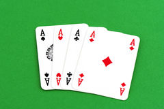 Playing card, four a kind aces Royalty Free Stock Photos