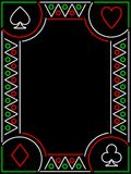 Playing card frame Royalty Free Stock Image