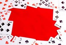 Playing card frame royalty free stock image