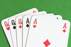 Playing card, Full house Royalty Free Stock Images