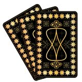 Playing Card Gold Designs. on white background. Eps10 royalty free illustration