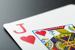 Playing card on grey Royalty Free Stock Photography