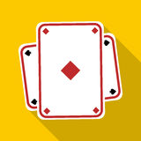 Playing card icon, flat style. Playing card icon. Flat illustration of playing card vector icon for web vector illustration