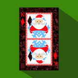 Playing card. the icon picture is easy. DIAMONT KING. NEW YEAR SANTA CLAUS. CHRISTMAS SUBJECT. about dark region boundary. a vecto Royalty Free Stock Photography