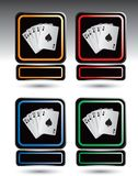 Playing Card Icons Stock Photography