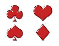 Playing card icons Stock Image