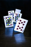 Playing Card Illusion. A Royal Flush, trick shot Royalty Free Stock Photography