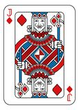 Playing Card Jack of Diamonds Red Blue and Black. A playing card Jack of Diamonds in red, blue and black from a new modern original complete full deck design vector illustration