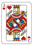 Playing Card Jack of Hearts Yellow Red Blue Black. A playing card Jack of hearts in yellow, red, blue and black from a new modern original complete full deck royalty free illustration