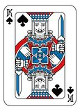 Playing Card King of Spades Red Blue and Black. A playing card king of Spades in red, blue and black from a new modern original complete full deck design vector illustration