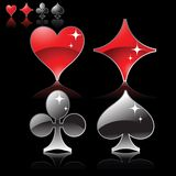 Playing card logos Royalty Free Stock Photography