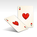 Playing Card / Love. This is the Ace of heart in card game, which is also use for as a symbol of love Royalty Free Stock Photography