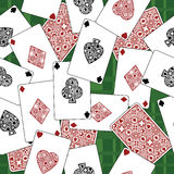Playing card pattern Royalty Free Stock Photos
