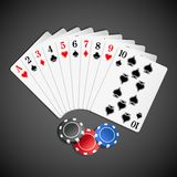 Playing Card with Poker Royalty Free Stock Photography