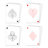 Playing card poker Royalty Free Stock Images