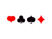 Playing card poker symbols set  ace vector set Stock Photo