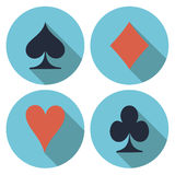 Playing card's flat vector Stock Images