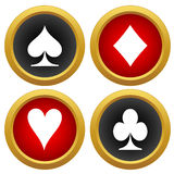 Playing card's icons vector Stock Photography