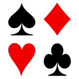 Playing card's signs vector Royalty Free Stock Images