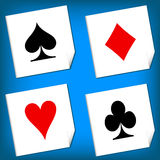Playing card's signs vector Stock Images