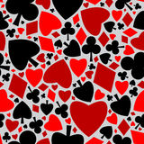 Playing card seamless pattern Royalty Free Stock Photos