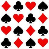 Playing card seamless pattern Royalty Free Stock Photo