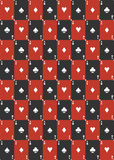 Playing card seamless pattern Royalty Free Stock Photos