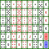 Playing card set generated hires texture. Playing card full set generated hires texture vector illustration