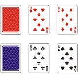 Playing card set 04 Royalty Free Stock Image