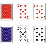 Playing card set 06 Royalty Free Stock Photography