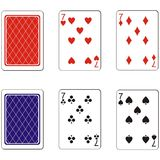 Playing card set 09 Royalty Free Stock Photo
