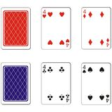 Playing card set 11. Vector Playing card set 11 Royalty Free Stock Photos