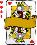 Playing card style king illustration stock illustration