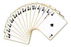 Clubs Suit Playing Cards Stock Photos