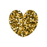 Playing card suit heart. Playing card suit icon. Golden spangle. Heart. Vector illustration royalty free illustration