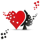 Playing card suit logo. Stock Images
