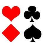 Playing card suits Stock Photos